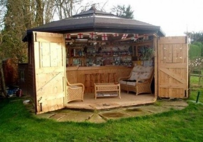 move over man caves there s a new trend on the rise bar sheds