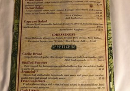 The italian village buffalo restaurants for The local italian menu